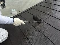 塗り替え 屋根 遮熱 上塗り2回目 鎌倉市 サーモアイ 横浜市