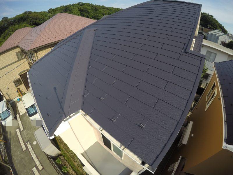 屋根塗装 戸塚区 日本ペイント サーモアイ 遮熱 施工後