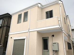 横浜市 外壁塗装 戸塚区 カラーシミュレーション ホワイト クリーム イメージ画像 雰囲気