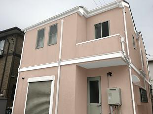 ピンク ローズ 外壁塗装 イメージ画像 カラーシミュレーション 横浜市 戸塚区