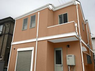 外壁塗装 イメージ画像 カラーシミュレーション 横浜市 オレンジ レンガ 戸塚区