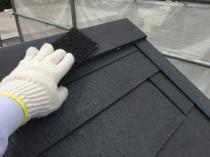 屋根 棟板金 塗装 ケレン 横浜市 リフォーム