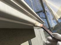 リフォーム 樋塗装 上塗り1回目 軒 塗り替え 横浜市 戸建