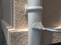 リフォーム 竪樋 上塗り2回目 塗装 フッ素 横浜市 戸塚区 雨樋