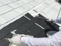 屋根 塗り替え リフォーム 戸塚 下塗り1回目 横浜市
