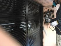 シリコン 上吹き2回目 雨戸塗装 住宅塗装 横浜市 緑区
