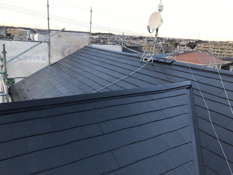 屋根塗装 施工後 横浜市 緑区 遮熱塗料 サーモアイ