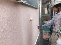 横浜市 塗装 外壁 防藻 上塗り2回目 緑区 防カビ