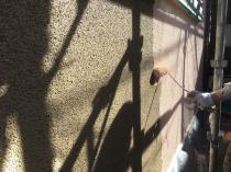 防藻 防カビ 上塗り1回目 外壁 塗り替え 横浜市 緑区