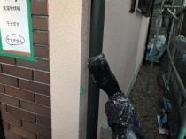 住宅塗装 雨樋 ケレン作業 清掃作業 塗り替えリフォーム 横浜市 緑区