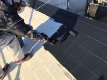 塗装 屋根 上塗り1回目 横浜市 緑区 塗り替えリフォーム