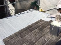 屋根 塗り替え シーラー下塗り1回目 横浜市 緑区