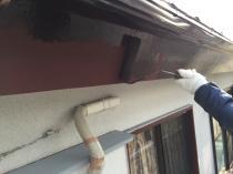 破風 塗装 上塗り1回目 横浜市 リフォーム 港南区