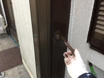 横浜市 住宅塗装 木枠 塗り替え 港南区 上塗り2回目