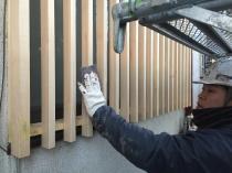 横浜市 面格子 塗り替え ケレン作業 港南区 リフォーム