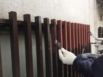 面格子 塗装 横浜市 住宅 港南区 上塗り1回目