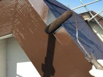 屋根 シリコン 付帯部 塗装 上塗り2回目 横浜市 港南区