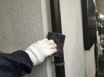 竪樋 付帯部 ケレン リフォーム 横浜市 港南区 住宅 塗装