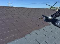 塗装 リフォーム 屋根 上塗り1回目 シリコン 横浜市 港南区