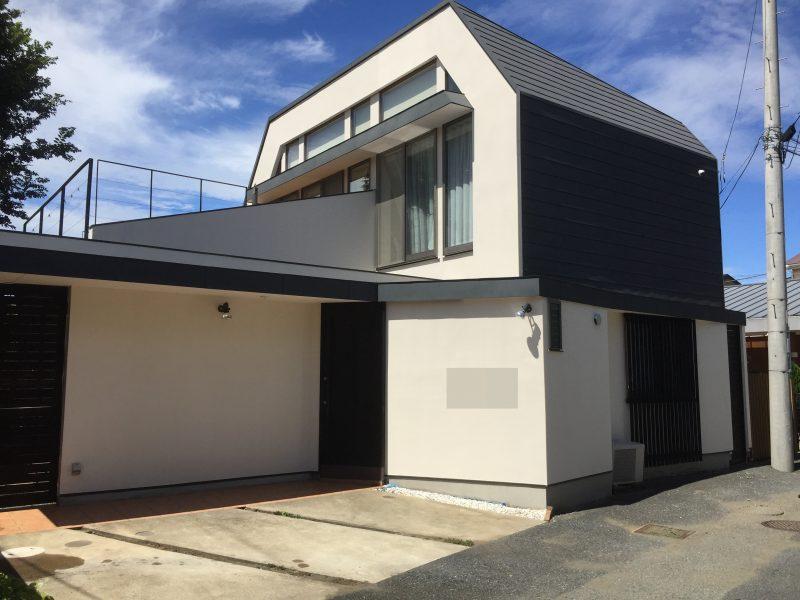茅ヶ崎市 外壁塗装 リフォーム 施工後 日本ペイント インディフレッシュセラ