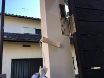 ファインシリコンフレッシュ 日本ペイント 上塗り2回目 扉枠 玄関 茅ヶ崎市