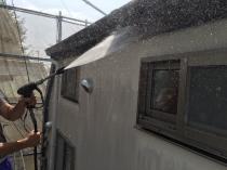 外壁 高圧洗浄 茅ヶ崎市 外壁塗装 施工前
