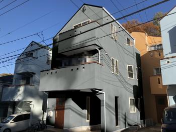 横浜市磯子区K様邸インディフレッシュセラ外壁塗装施工前カラーシミュレーション画像