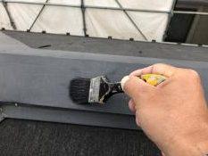 屋根塗装 横浜市 神奈川区 棟板金 塗り替え 清掃