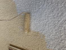 塗り替え リフォーム 横浜市 外壁 上塗り1回目 ダイヤモンドコート
