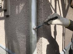 横浜市 塗り替え 竪樋 シリコン 上塗り1回目