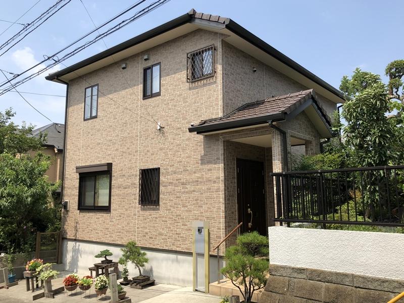 横浜市 外壁塗装 施工後 日本ペイント UVプロテクトクリヤー 栄区 口コミ 好評