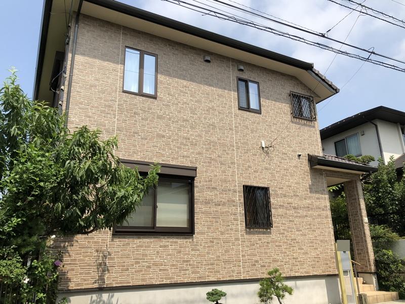 外壁塗装 施工後 横浜市 栄区 戸建住宅 クリヤー塗装 日本ペイント 人気