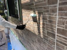 外壁塗装 上塗り2回目 横浜市 栄区 日本ペイント 口コミ 安心