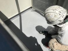 住宅塗装 ベランダ 防水工事 研磨