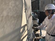 塗装 外壁 上塗り2回目 日本ペイント 認定施工店
