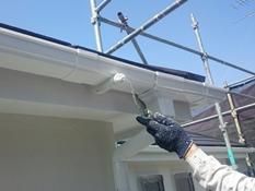 雨樋 リフォーム 塗装 シリコン系 日本ペイント 上塗り2回目