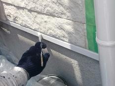 塗り替え 戸塚区 防汚 シリコン 人気 水切り塗装 上塗り2回目
