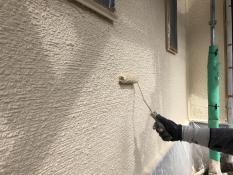 横浜市 外壁 ダイヤモンドコート 塗装 上塗り2回目 神奈川区