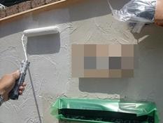 横浜市 住宅塗装 塀 リフォーム 下塗り