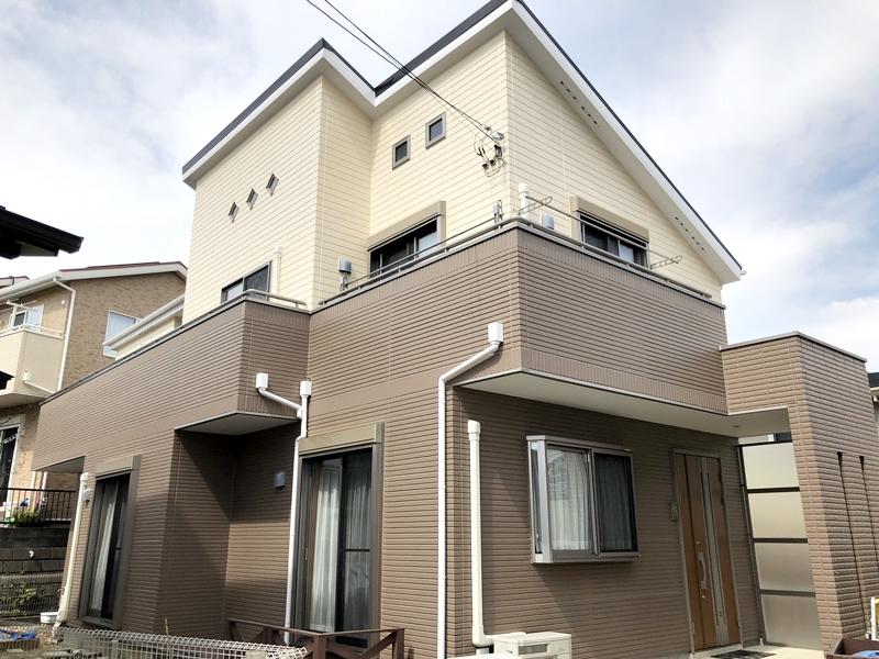 横浜市 外壁塗装 屋根塗装 日本ペイント ダイヤモンドコート 施工後