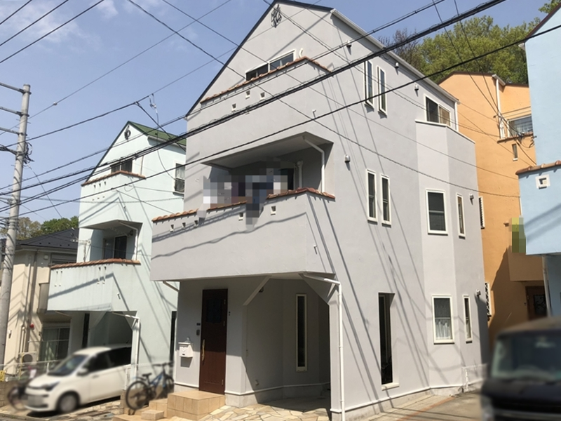 横浜市磯子区K様邸インディフレッシュセラ外壁塗装施工後