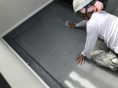 ベランダ リフォーム 防水保護塗装 アセトン