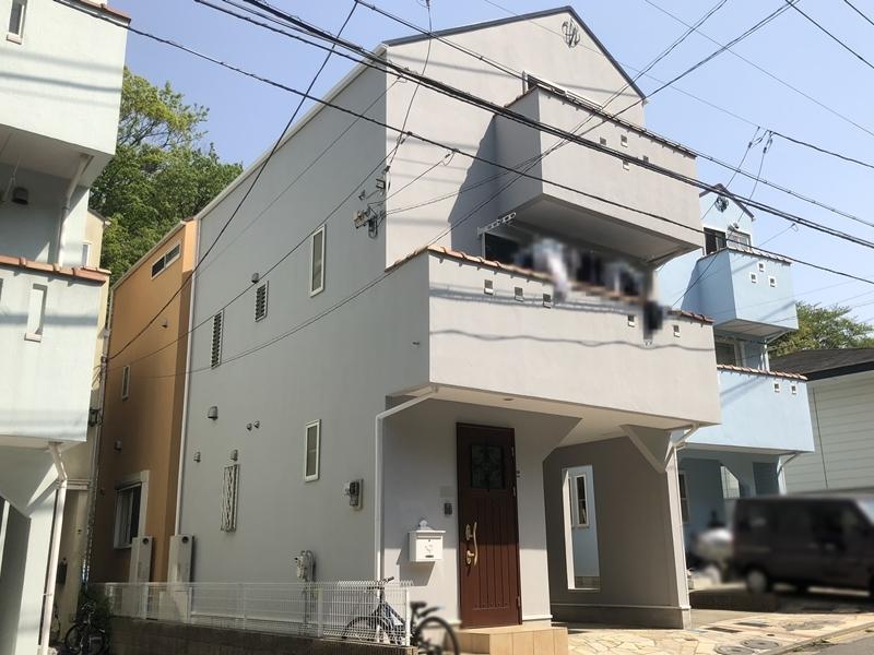 横浜市磯子区K様邸インディフレッシュセラ外壁塗装施工後画像