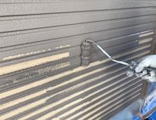 横浜市 ダイヤモンドコート 外壁塗装 日本ペイント 上塗り1回目 栄区
