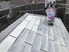 安心 安全 屋根塗装 下塗り2回目 遮熱塗料 横浜市 塗装専門店