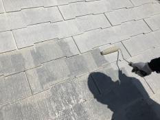 戸建て 塗り替え 屋根塗装 下塗り2回目