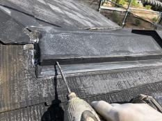 リフォーム 横浜市 屋根 棟板金塗装 ビス止め 港南区 戸建