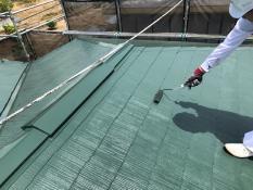 屋根 塗り替え 日本ペイント 遮熱 上塗り2回目