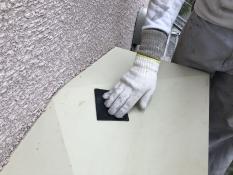 ケレン 霧除け庇 シリコン 塗り替え 横浜市