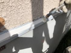 上塗り1回目 シリコン 水切り 塗り替え リフォーム 横浜市 戸建住宅 神奈川区
